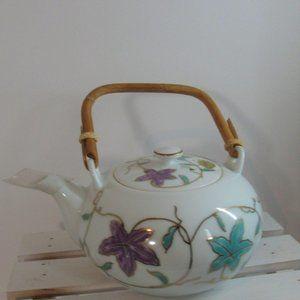 Japanese porcelain teapot floral